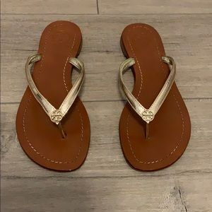 Gold Tory Burch sandals